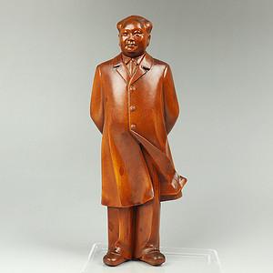 黄杨木雕毛主席像