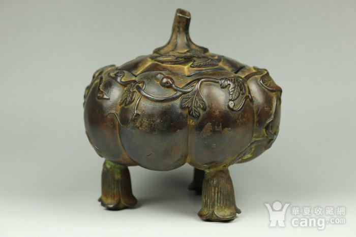 早期收藏回流老铜香炉图2