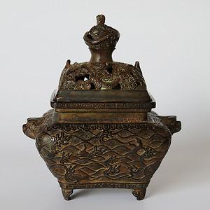 早期收藏回流老铜香炉