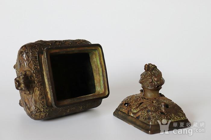 早期收藏回流老铜香炉图3