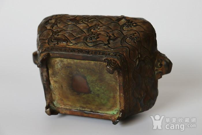 早期收藏回流老铜香炉图5
