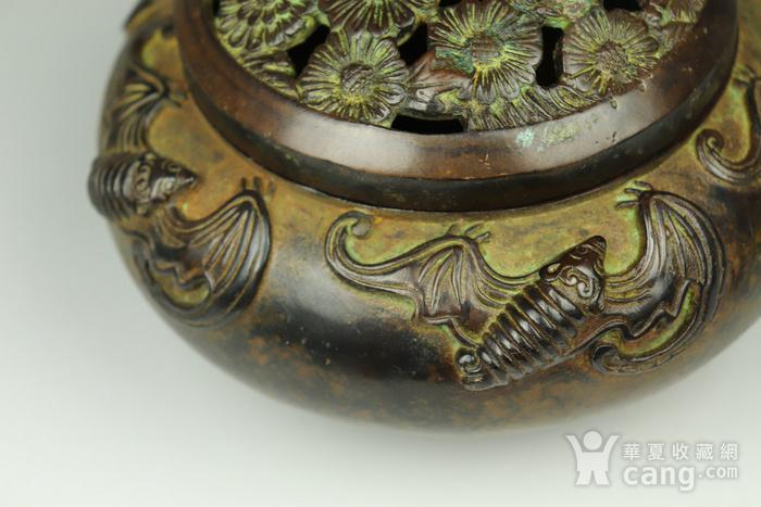 早期收藏回流老铜香炉图7
