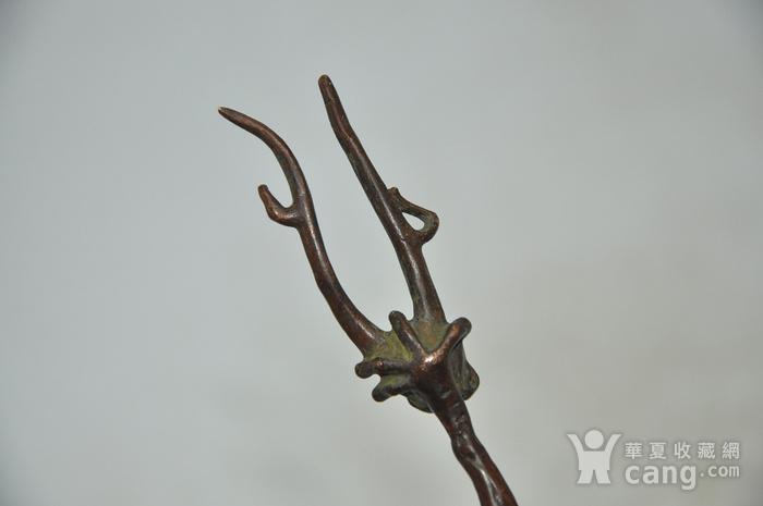 日本茶道铸铜挑盖器图6