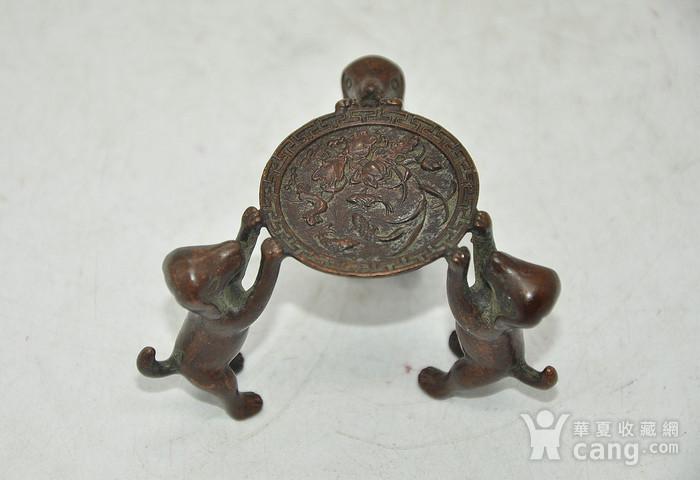 日本茶道铸铜小摆件图1