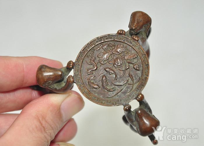 日本茶道铸铜小摆件图5