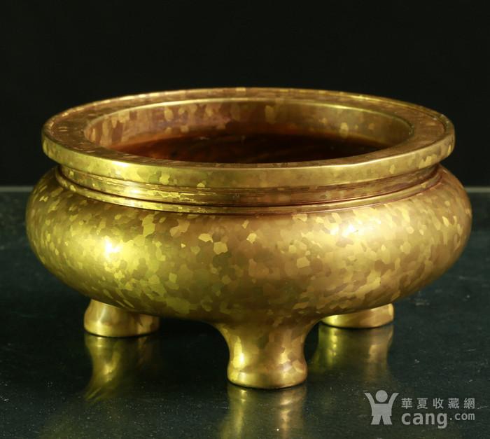 斑金铜三足 鬲式香炉图3