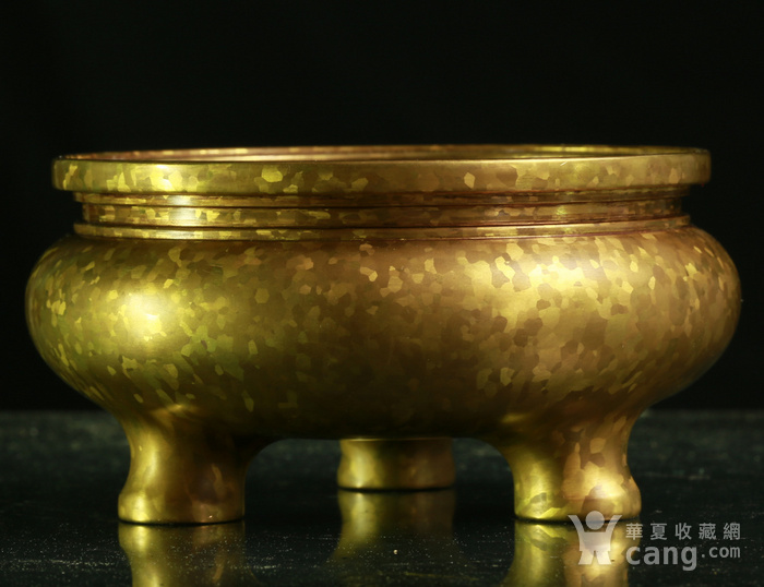 斑金铜三足 鬲式香炉图5