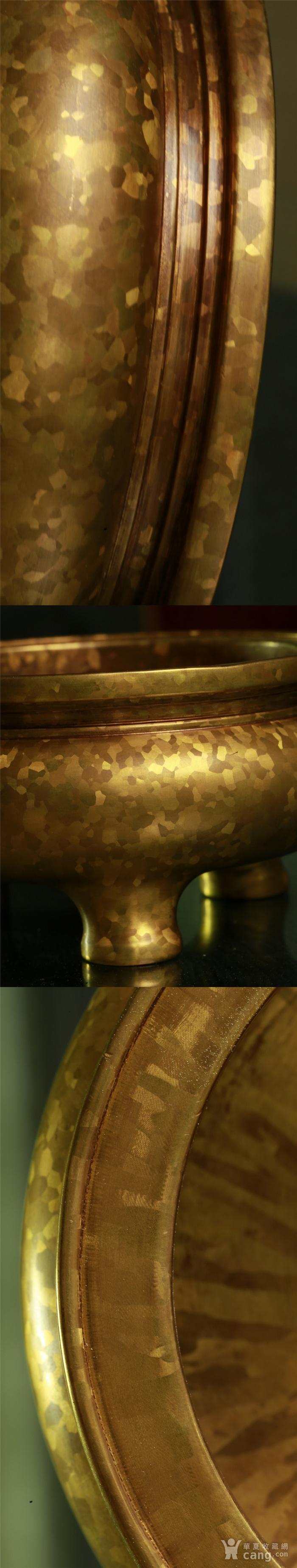 斑金铜三足 鬲式香炉图8