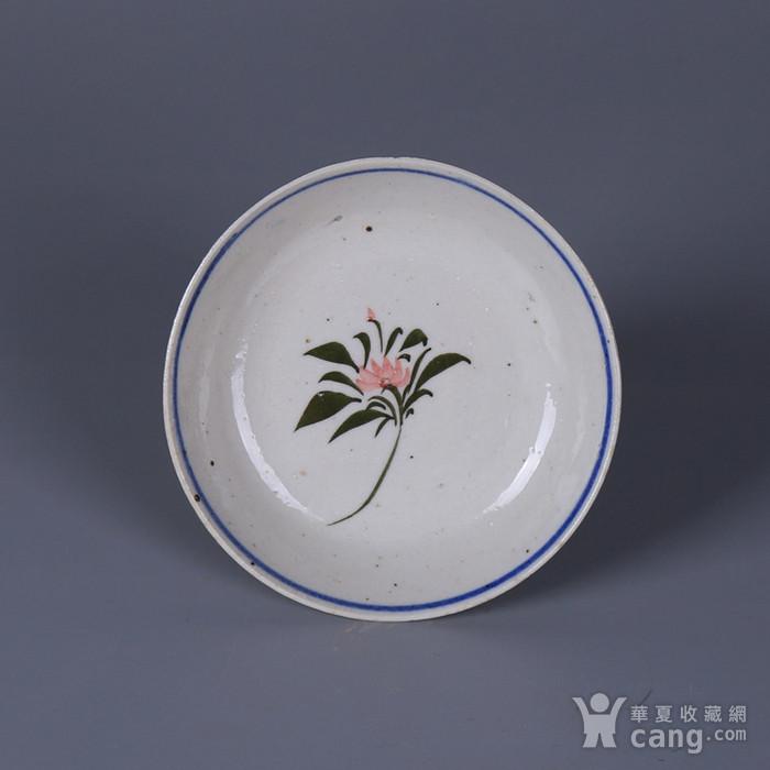 民国花卉纹茶碟图3