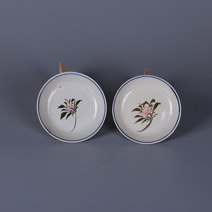 民国花卉纹茶碟