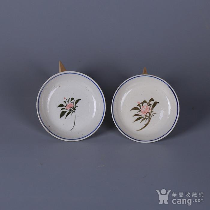 民国花卉纹茶碟图1