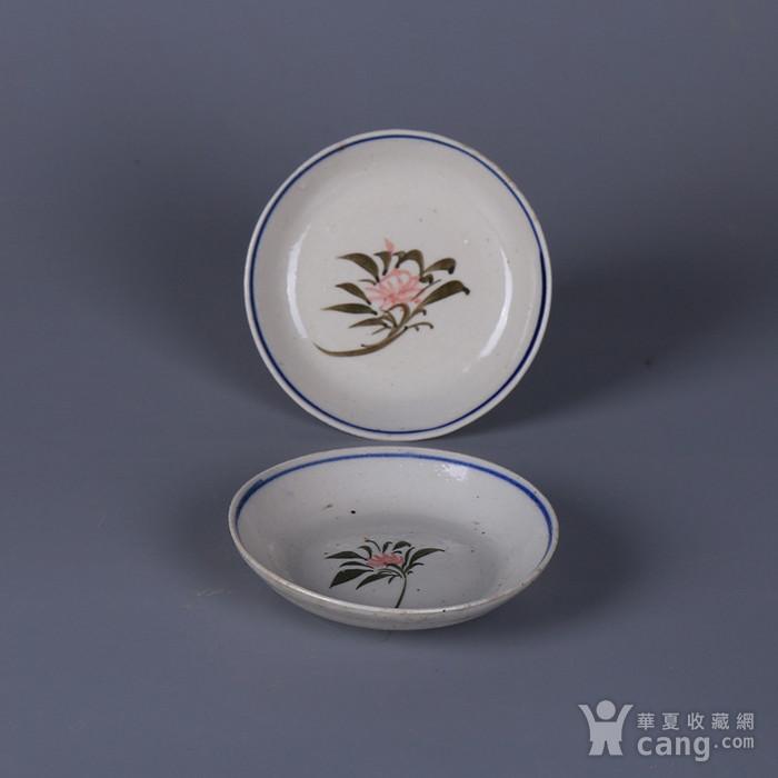 民国花卉纹茶碟图9
