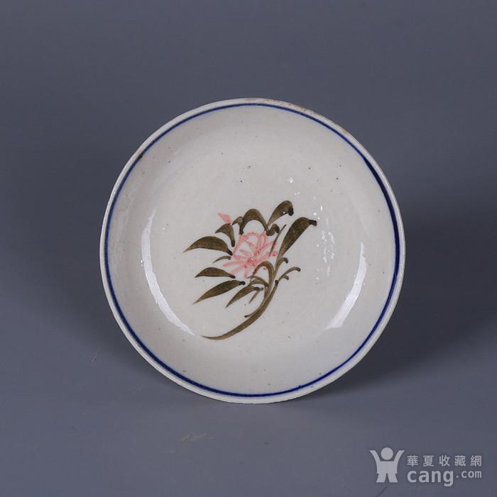 民国花卉纹茶碟图5