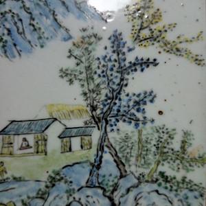 解放前后:粉彩山水瓷版画