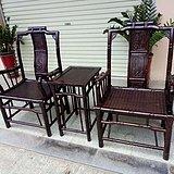 檀木竹节椅
