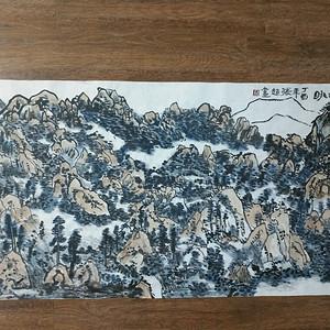 联盟四尺整张山水画