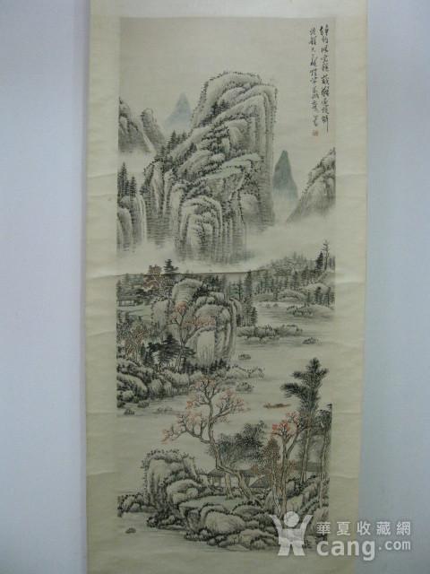 老山水画。蒲儒款的作品。画心124 49厘米图2