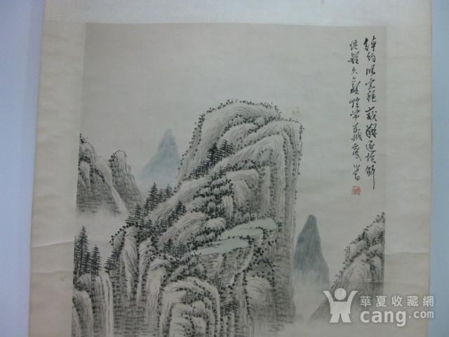 老山水画。蒲儒款的作品。画心124 49厘米图3