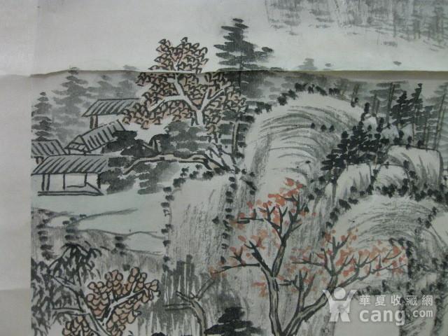 老山水画。蒲儒款的作品。画心124 49厘米图5
