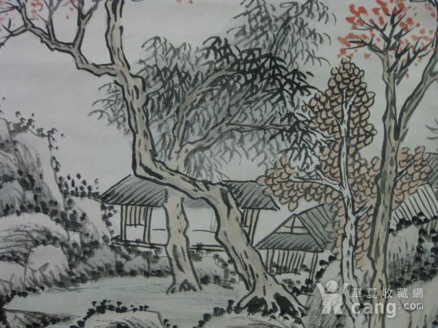 老山水画。蒲儒款的作品。画心124 49厘米图6