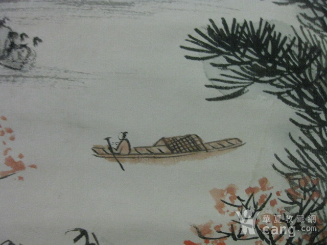 老山水画。蒲儒款的作品。画心124 49厘米图8