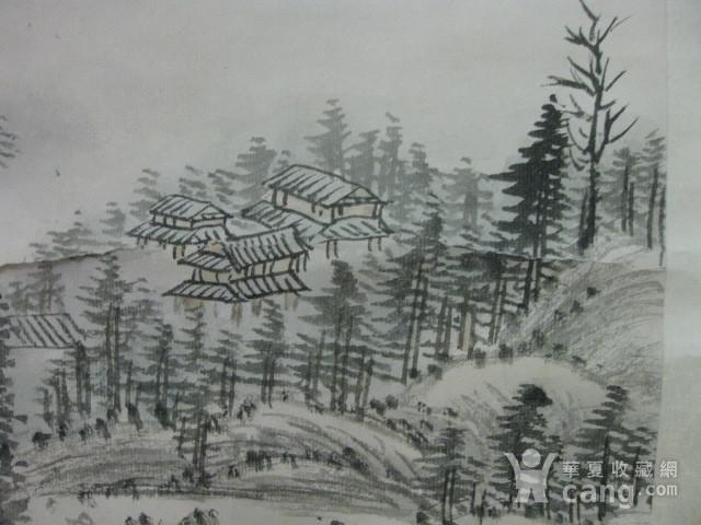 老山水画。蒲儒款的作品。画心124 49厘米图9
