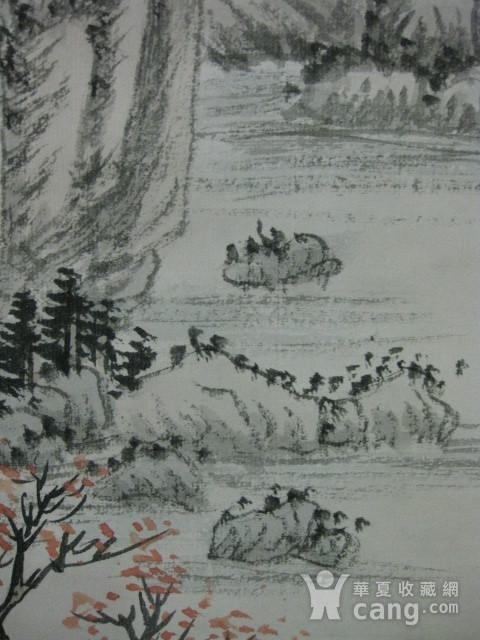 老山水画。蒲儒款的作品。画心124 49厘米图7