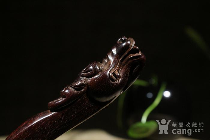 老料小叶紫檀 螭龙 茶刀图4