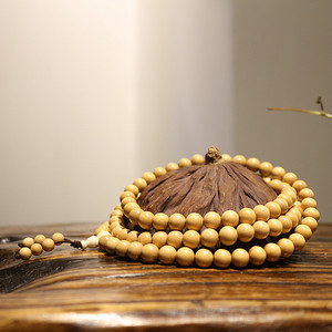 小叶黄杨木0.8 108颗念珠