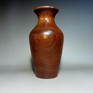 老木瓶!整木雕的纯实木赏瓶 !花纹漂亮!