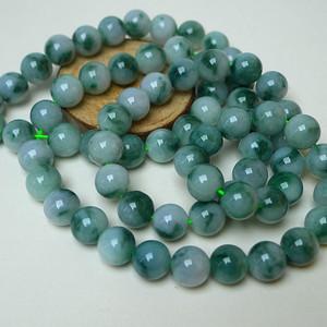 冰润飘绿圆珠项链