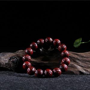小叶紫檀1.5高密锤纹珠
