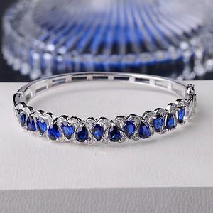 天然蓝宝石手镯