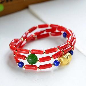天然红珊瑚手链