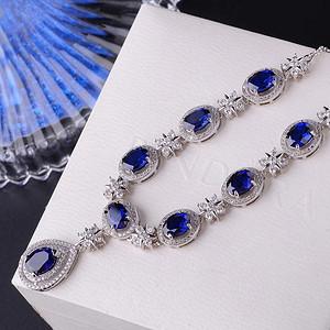 天然蓝宝石项链