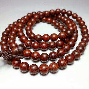 保真天然印度小叶紫檀精品全顺纹圆珠108佛珠手链