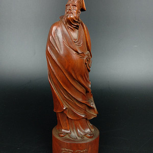 回流黄杨木雕古代圣贤苏轼人物摆件