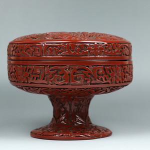 旧藏精品漆雕首饰盒