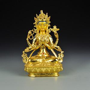 黄铜鎏金藏传佛像