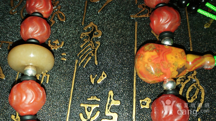有些年份红玛瑙水波纹珠子配和田玉顶珠十八子手持图6