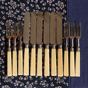 珍贵材质 回流刀叉餐具一套12件