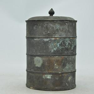 清末民国四层铜罐