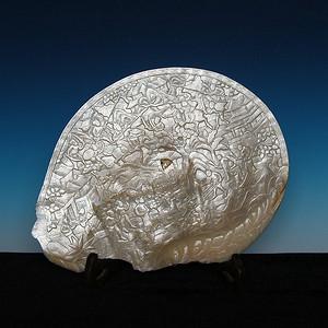 清代螺钿镂雕人物故事摆件
