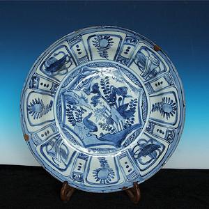 重磅收藏品 28cm巨大明代克拉克盘子