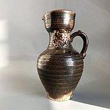 精品收藏级高古瓷 瓷州窑褐釉持壶