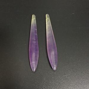清 紫罗兰翡翠耳环一对