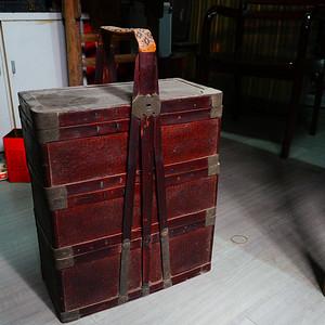 一流的竹编书盒