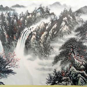 联盟  黎雄才款山水画一幅 国画:黄山松