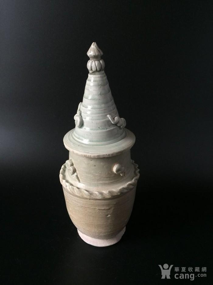 竞猜:极美品青白釉如意云头宝塔顶盖罐图1-在线竞猜-图片|图库|价格