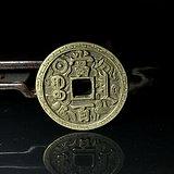 清晚民国时期老铜花钱一枚